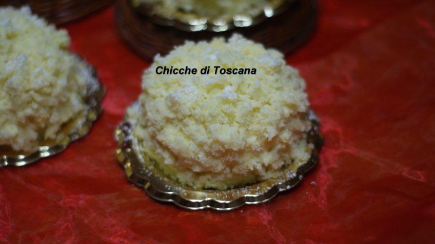 Tortine mimosa monoporzione con mele e cannella