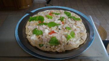 Ricetta Pizza piadina piccante con tacchino, gorgonzola e caciocavallo - incucinaconte.it
