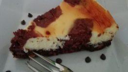 Cheesecake bicolore al mascarpone