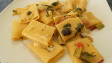 Ricetta Paccheri con cotto e verdure - Ricette di pasta con prosciutto