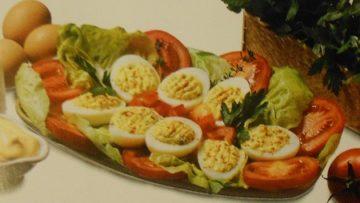 Ricetta uova farcite - Ricette antipasto con uova, panna, maionese, paprica