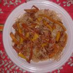 Spaghetti di soia con verdure e tenerone ricetta - Ricette cucina cinese Incucinaconte.it