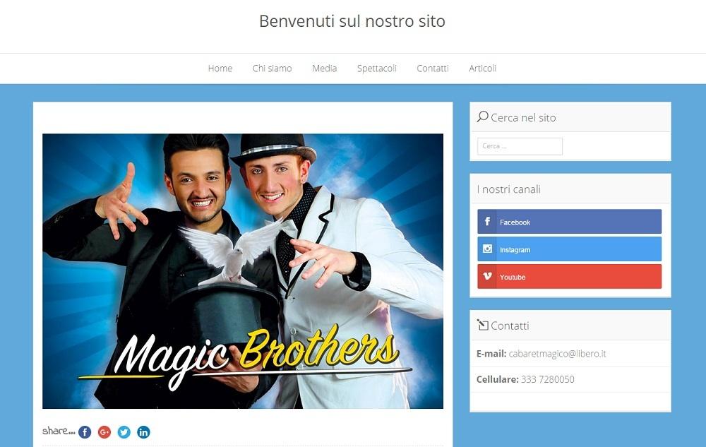 Il sito magicbrothers.it dove magia e arte si fonde