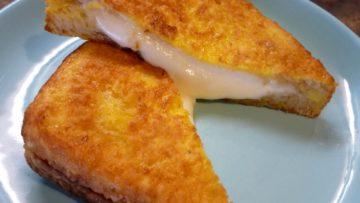 Mozzarella in carrozza ricetta. Ricette cucina antipasti veloci fritti.