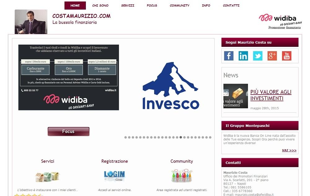 Sito promoter finanziario Maurizio costa
