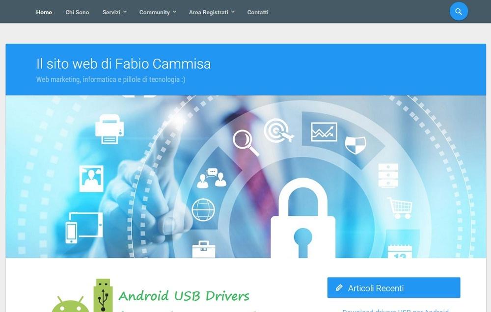 Sito web Fabio Cammisa. Notizie informatiche, pc, android, cellulari
