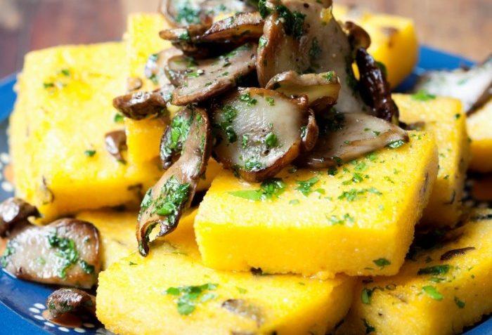 Ricetta polenta fritta con funghi porcini in cucina con te