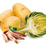 Strudel di carciofi, salsa di patate ed acciughe