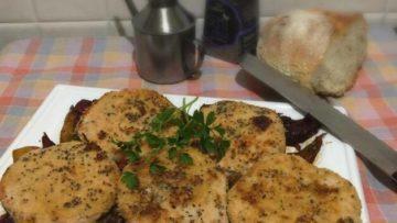 Ricetta Hamburger di pesce salmone persico e spezie