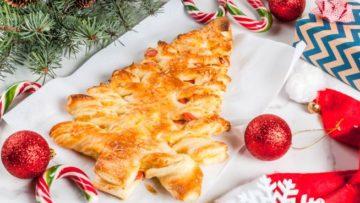 Albero di Natale di pasta sfoglia. ricette immacolata. Ricetta dolce e salato