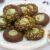 Biscotti al cacao con crema al pistacchio